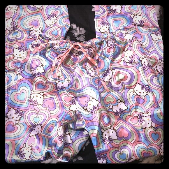 e11749555 Hello Kitty Intimates & Sleepwear | Pastel Heart Pj Pants | Poshmark
